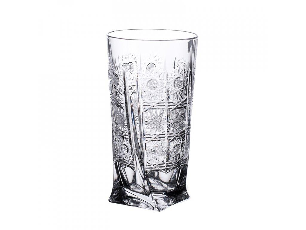 Broušené sklenice Quadro na long drink. 6 ks. Brus klasik 500 PK.