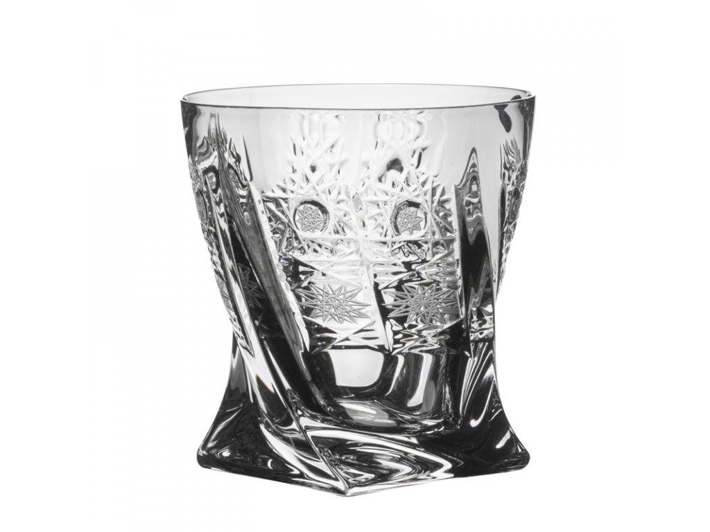 Broušené sklenice Quadro na whisky. 6 ks. Brus klasik 500 PK.