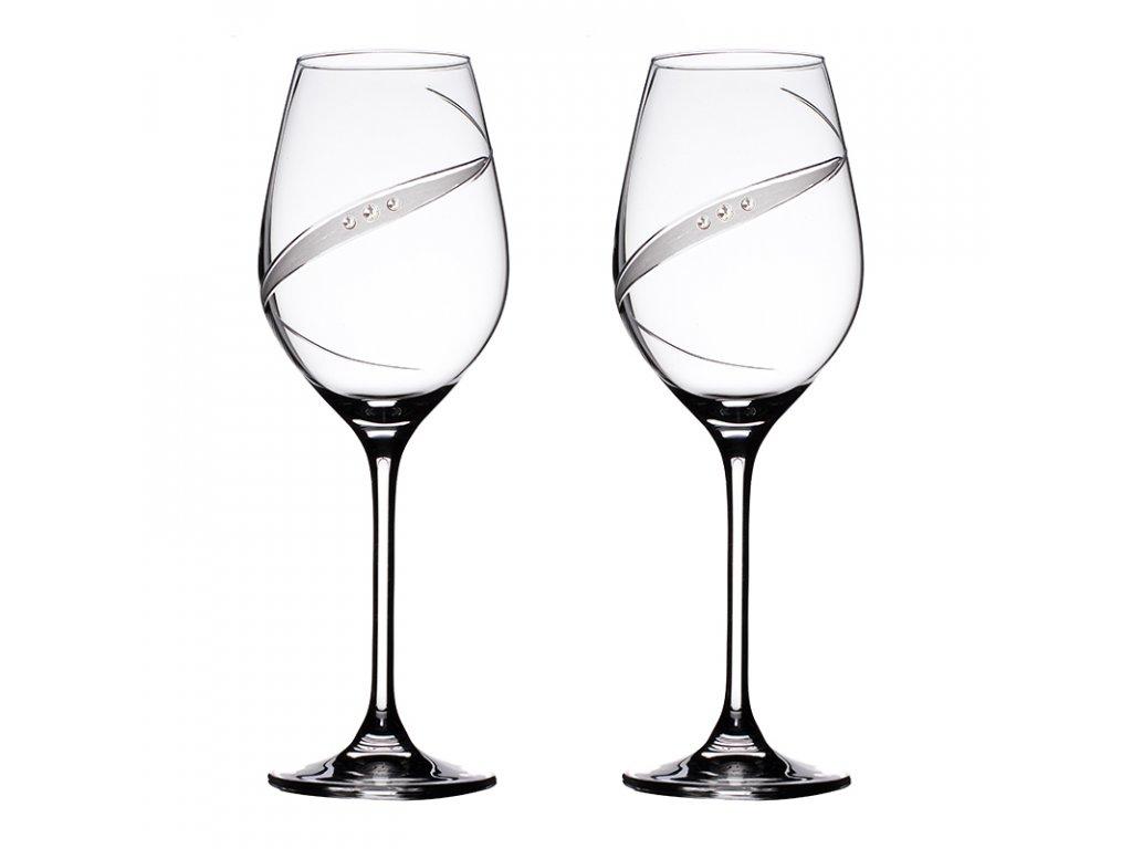 Sklenice na červené víno přátelská souprava Line exclusive - 2 ks Swarovski