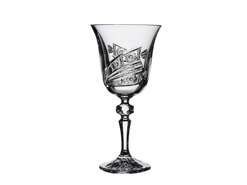 Broušené sklenice Laura na červené víno. 6 ks. Brus kometa.