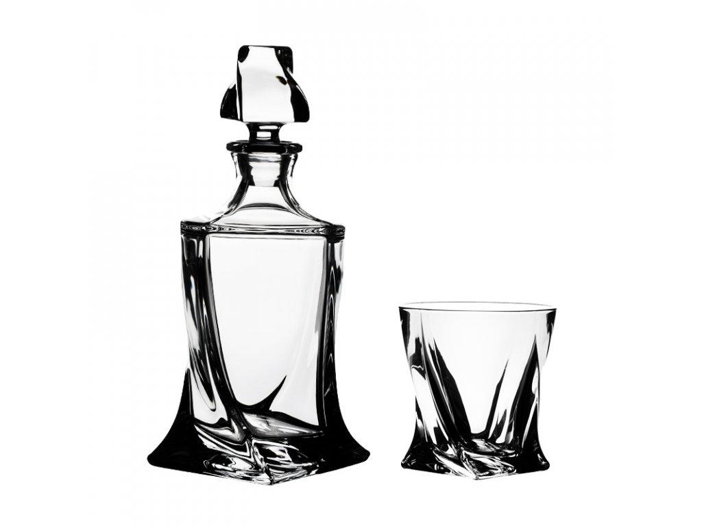 Crystalite Bohemia Set na whisky Quadro 6+1