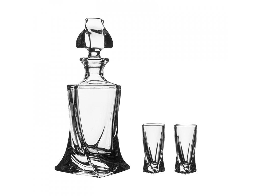 Crystalite Bohemia Quadro likér set 6+1, likérky 50ml