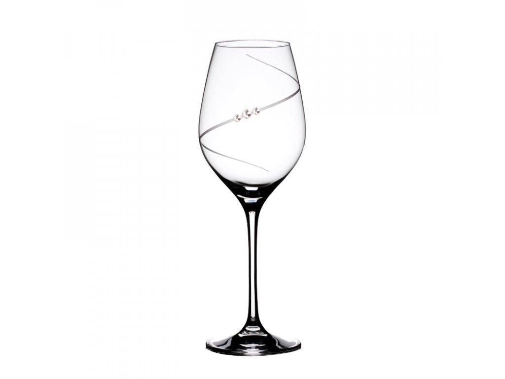 Sklenice na bílé víno Silhouette - 6 ks Swarovski