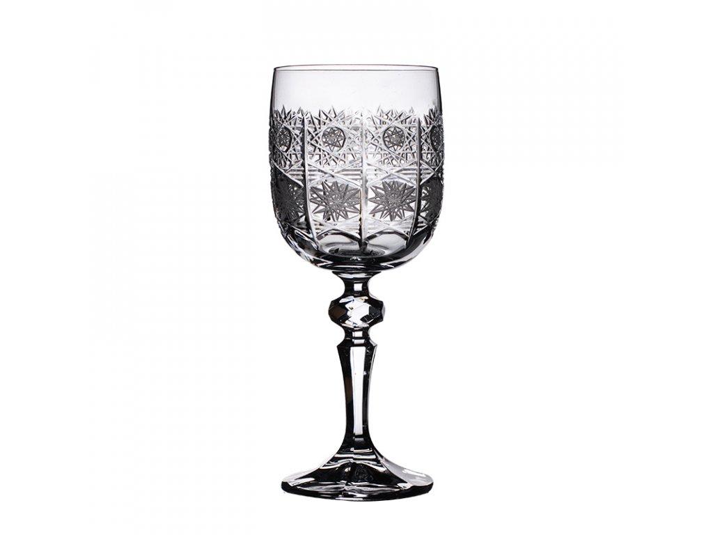 Broušené sklenice na bílé víno. 6 ks. 12137 Brus klasik 500 PK.