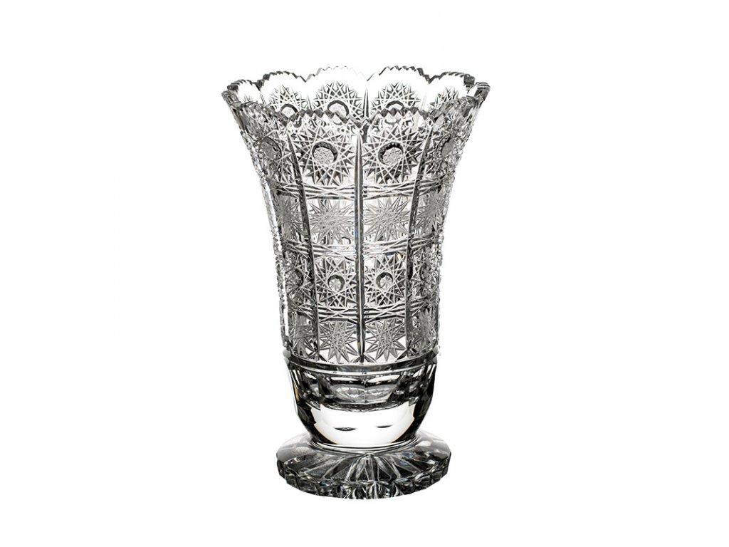 Broušená váza 80838/205mm . Klasický brus 500 PK.