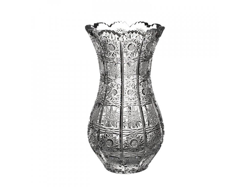 Broušená váza-pytel 80381/225mm. Klasický brus 500 PK.