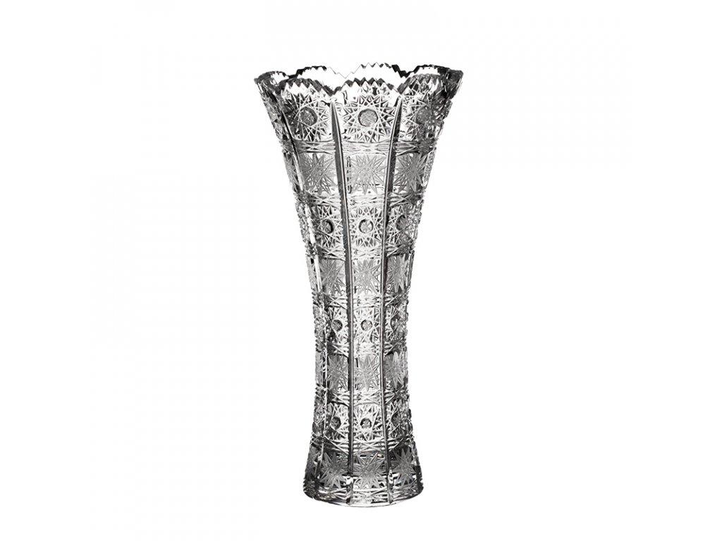 Broušená váza X 80452/255mm.Klasický brus 500 PK.