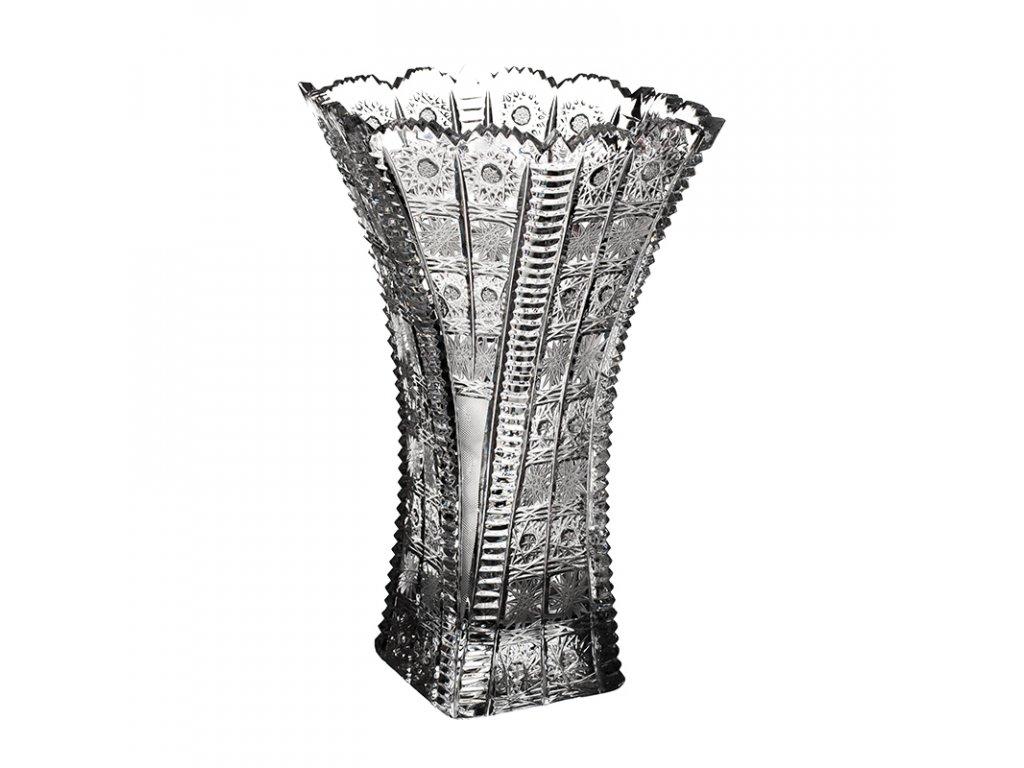 Broušená váza šestihran 81004/280 mm. Klasický brus 500 PK.