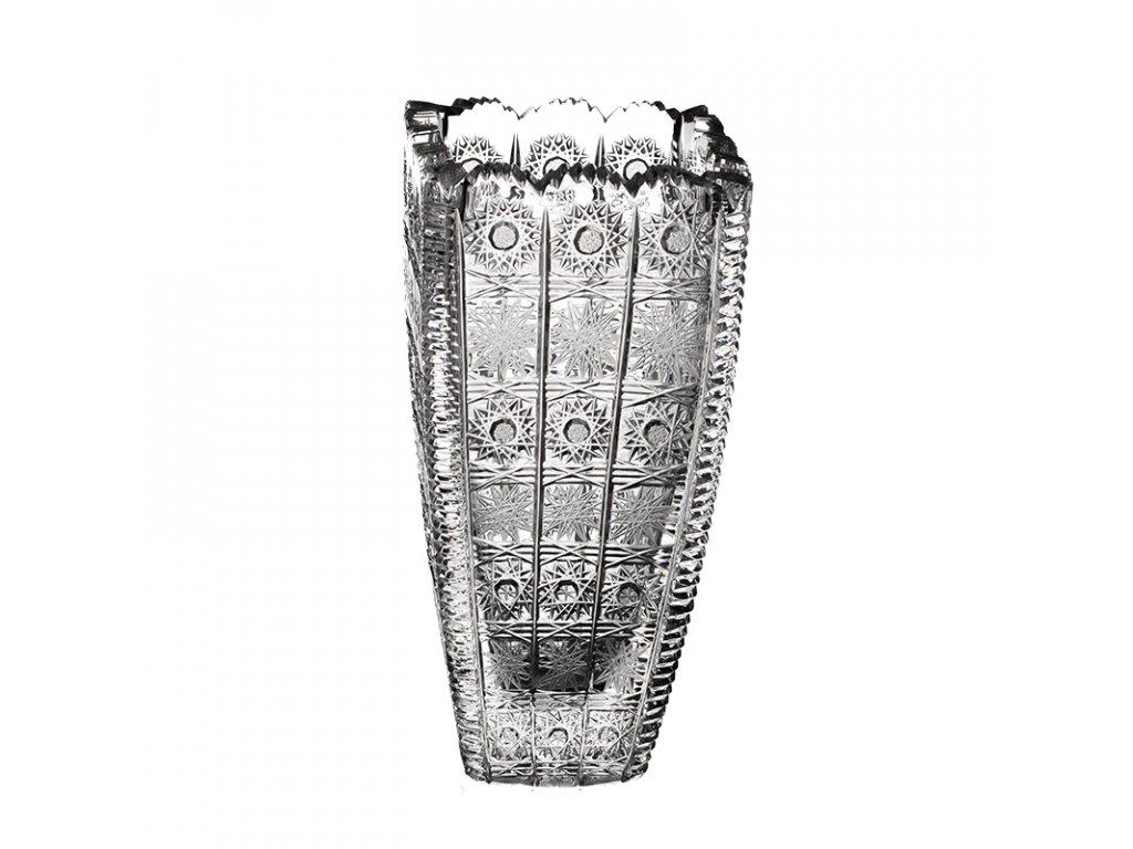 Broušená váza hranatá. Klasický brus 500 PK.