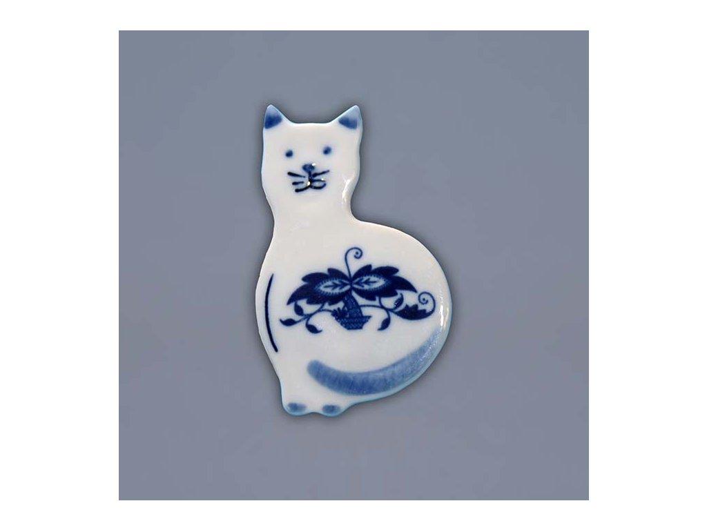 Magnetka - kočka - cibulový porcelán 18303-601