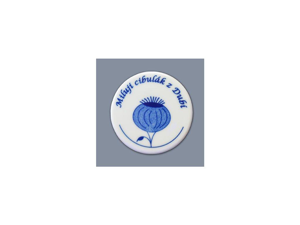 Magnetka - medailon - cibulový porcelán 70746