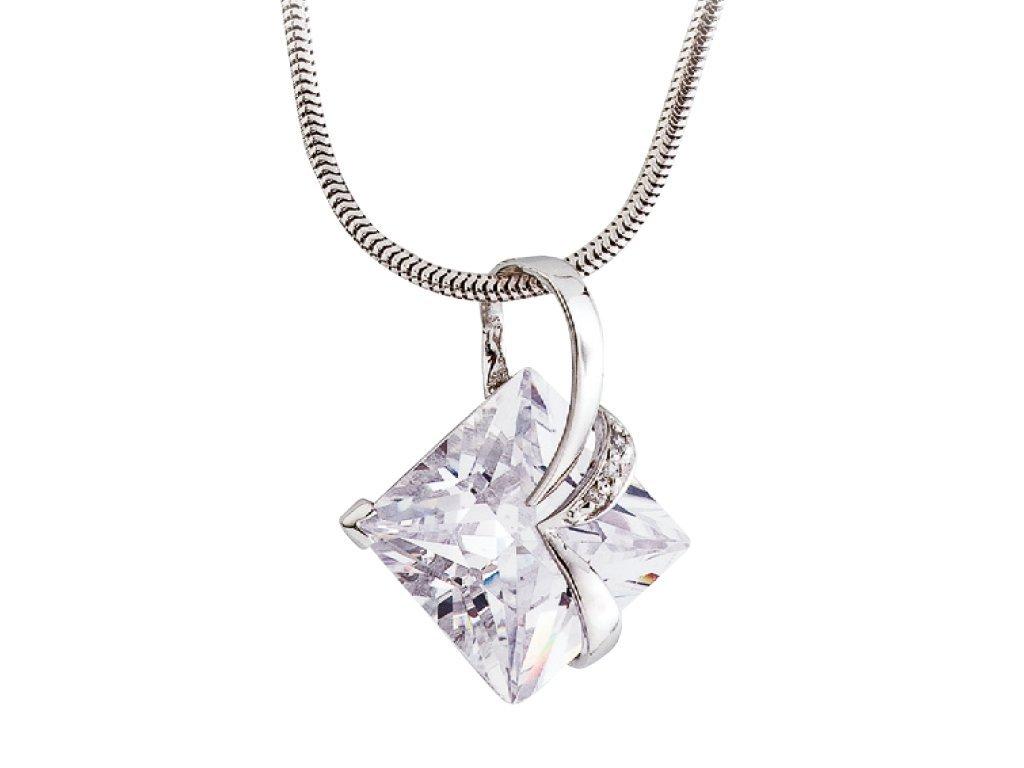 Stříbrný přívěsek Attractive s kubickou zirkonií Preciosa - krystal
