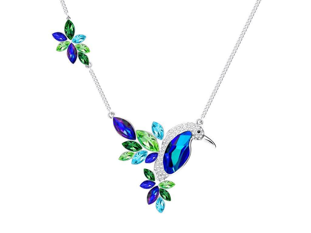 Bižuterní náhrdelník Flying Gem by Veronika s českým křišťálem Preciosa
