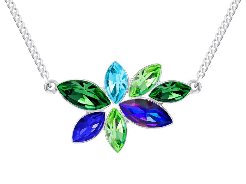 Bižuterní náhrdelník Flying Gem by Veronika s českým křišťálem Preciosa - jednoduchý