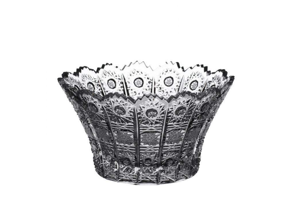 Broušené křišťálové sklo, miska klobouk 60096/205 mm. Klasický brus 500 PK.