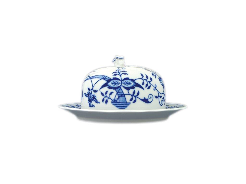Dóza na sýr kulatá - komplet - cibulový porcelán 70234