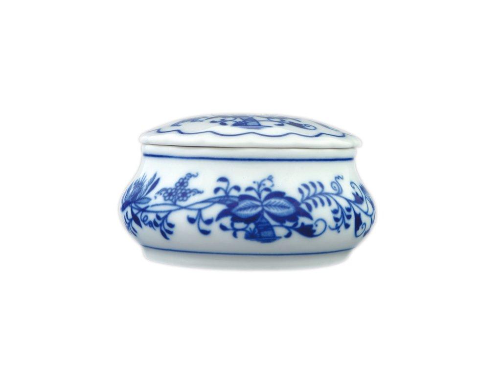 Dóza šperkovnice kulatá s víčkem - cibulový porcelán 70191