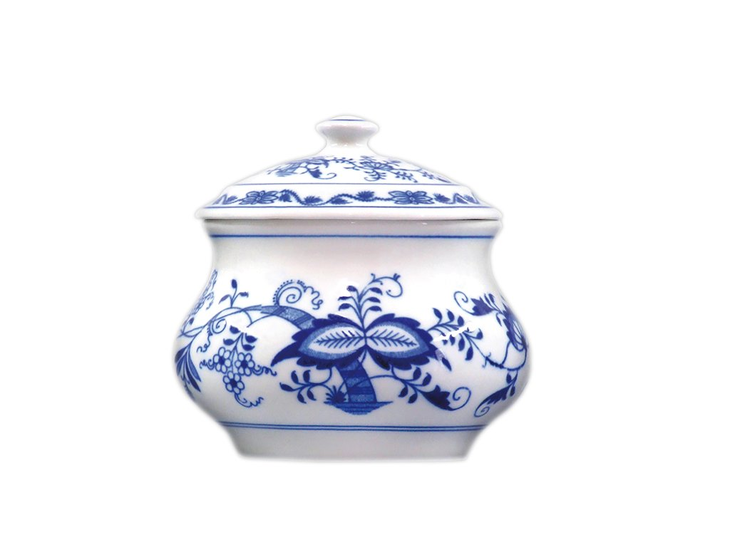 Dóza zeleninová s víkem - cibulový porcelán 70606