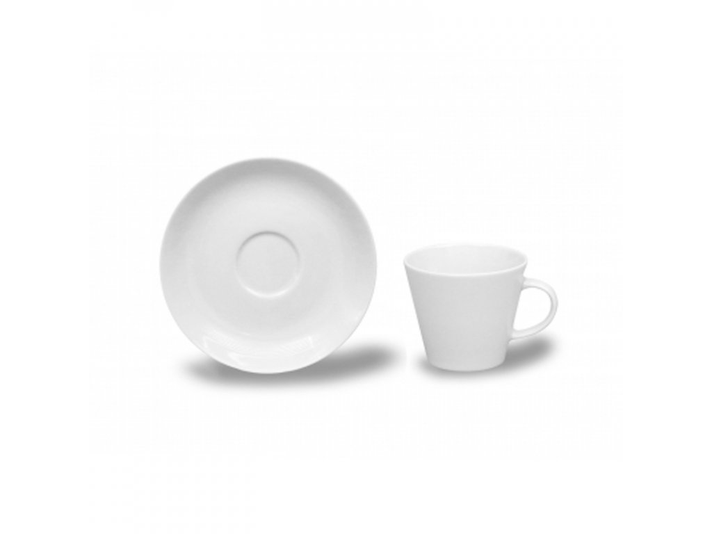 Kávové šálky s podšálkem 100ml, Thun 1794, karlovarský porcelán, TOM bílý, nedekorovaný 6ks.