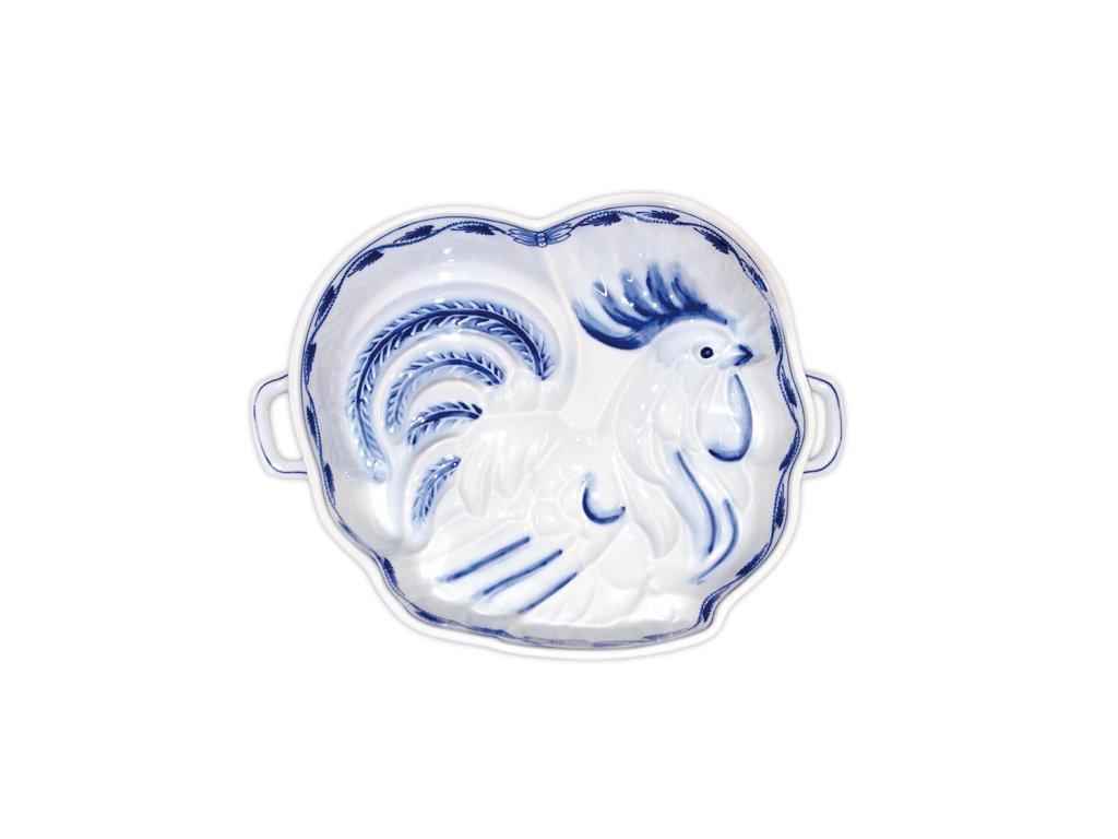 Kohout pečící forma - cibulový porcelán 10604