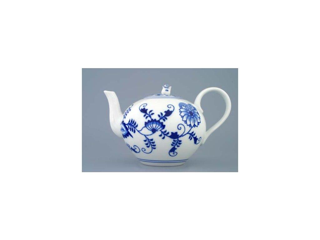 Konvice čajová se sítkem s víčkem 1,2 l - cibulový porcelán 70029