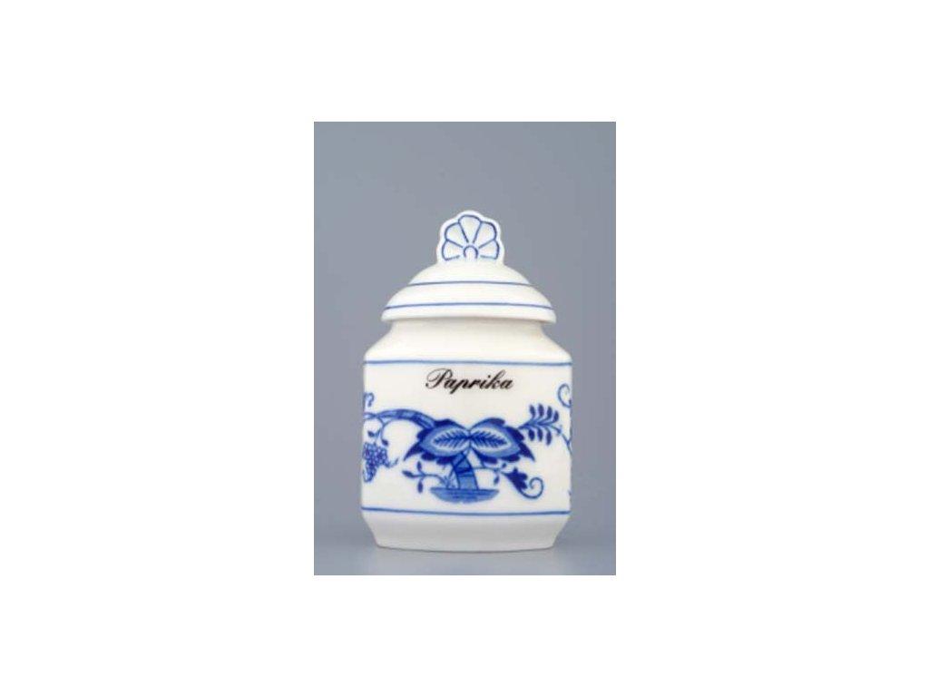 Kořenka s víčkem a náp. a receptem-50 druhů - cibulový porcelán 70143