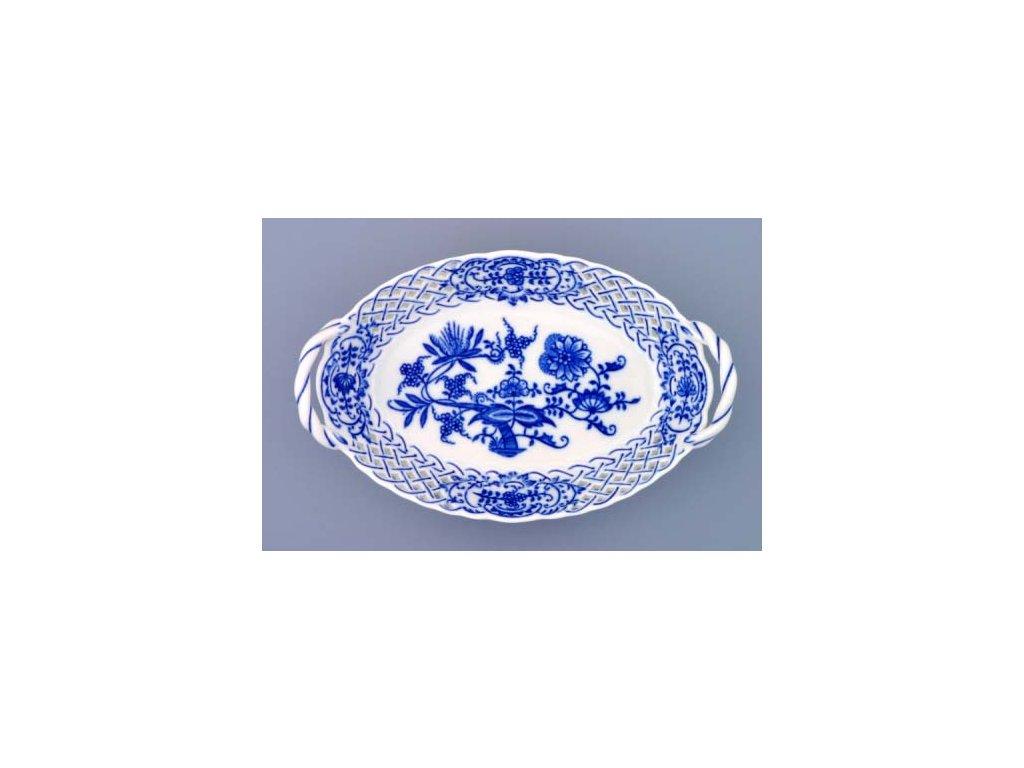 Košík prolamovaný 18,5 - cibulový porcelán 10147