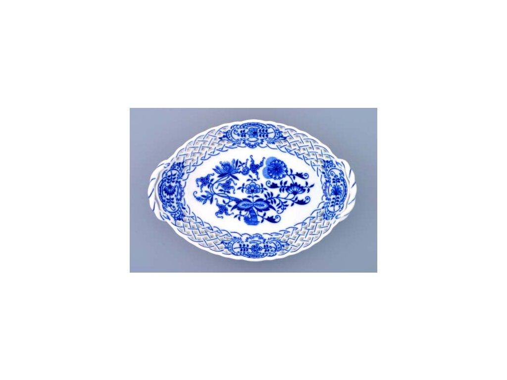 Košík prolamovaný 21cm - cibulový porcelán 10148