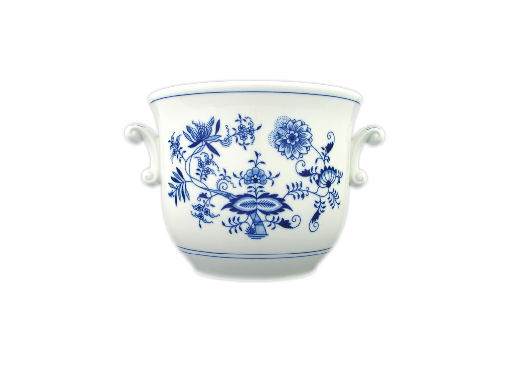 Květináč malý s uchy - cibulový porcelán 10626