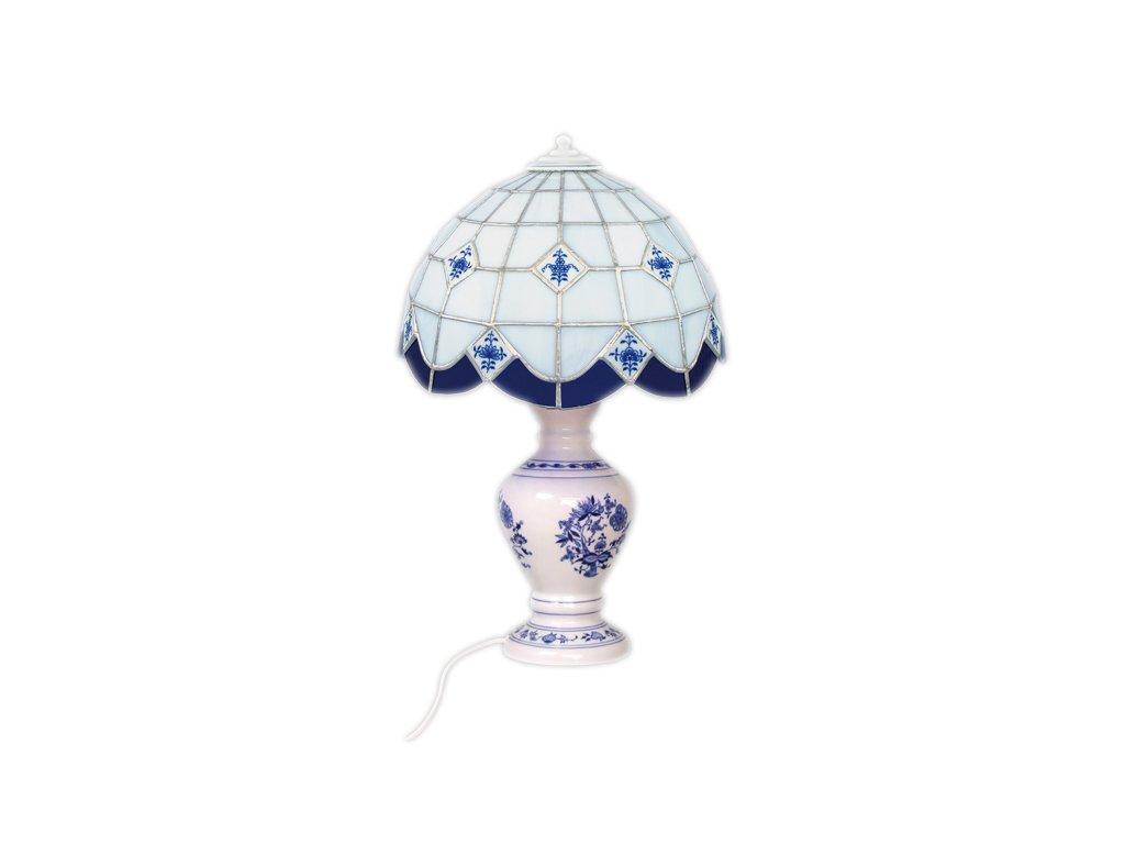Lampový podst. se stínítkem vitráž - neprolam. - cibulový porcelán 70534