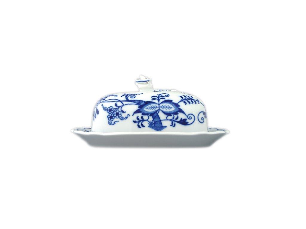 Máslenka hranatá malá - komplet - cibulový porcelán 70232