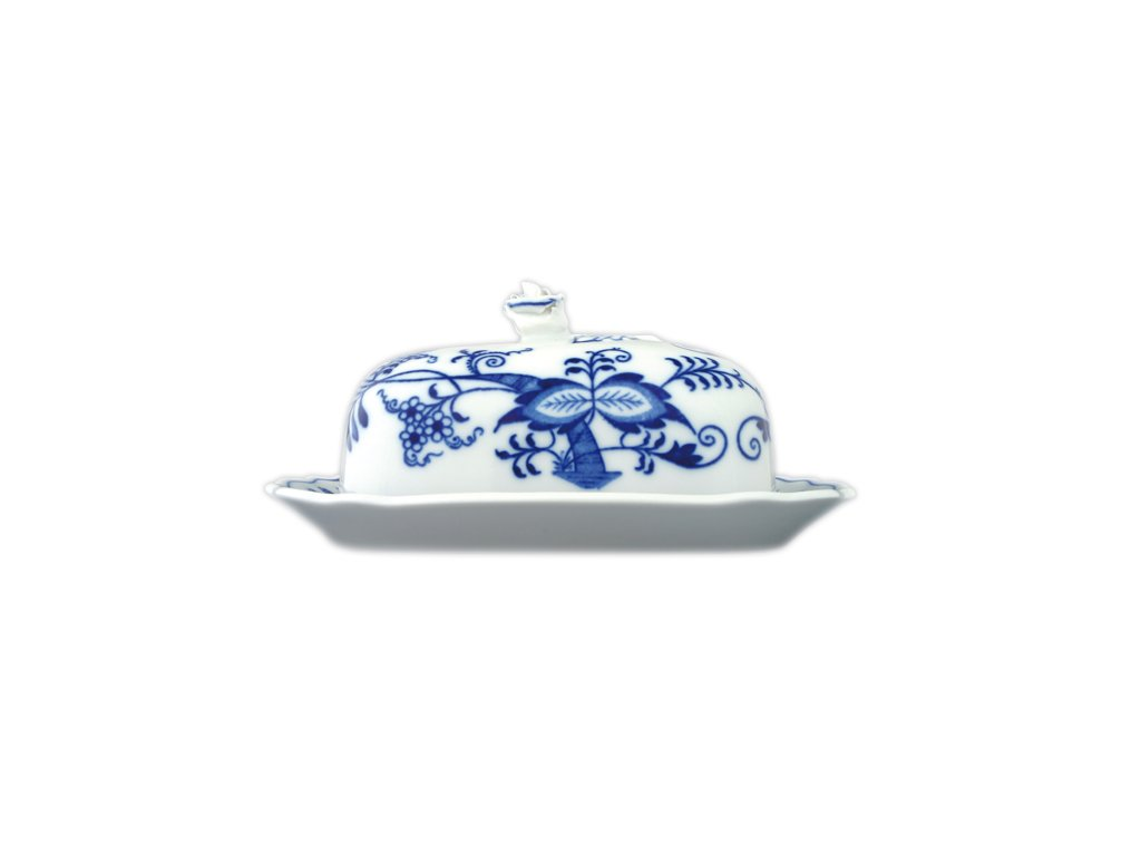 Máslenka hranatá velká - komplet - cibulový porcelán 70233