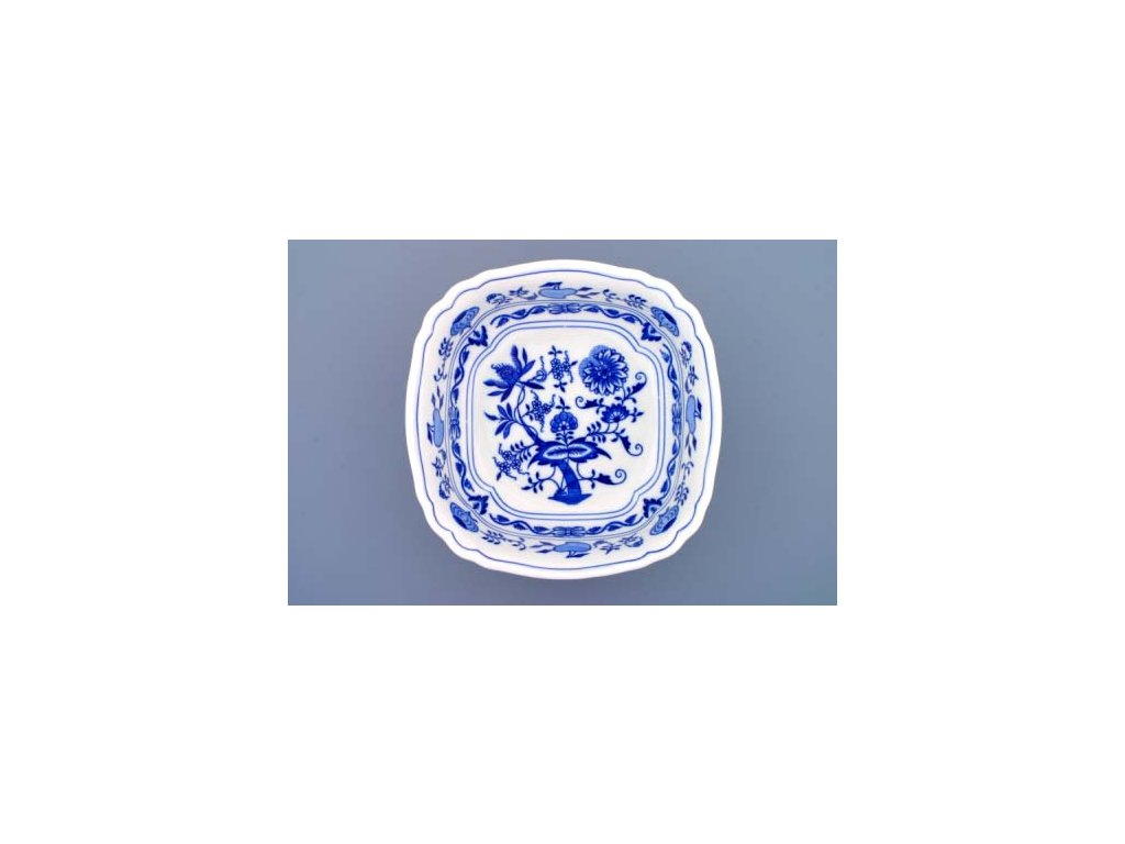 Mísa salátová čtyřhranná ital. 21cm - cibulový porcelán 10064