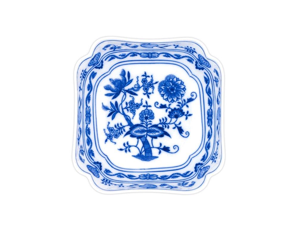 Mísa salátová čtyřhranná vysoká 18cm - cibulový porcelán 10060
