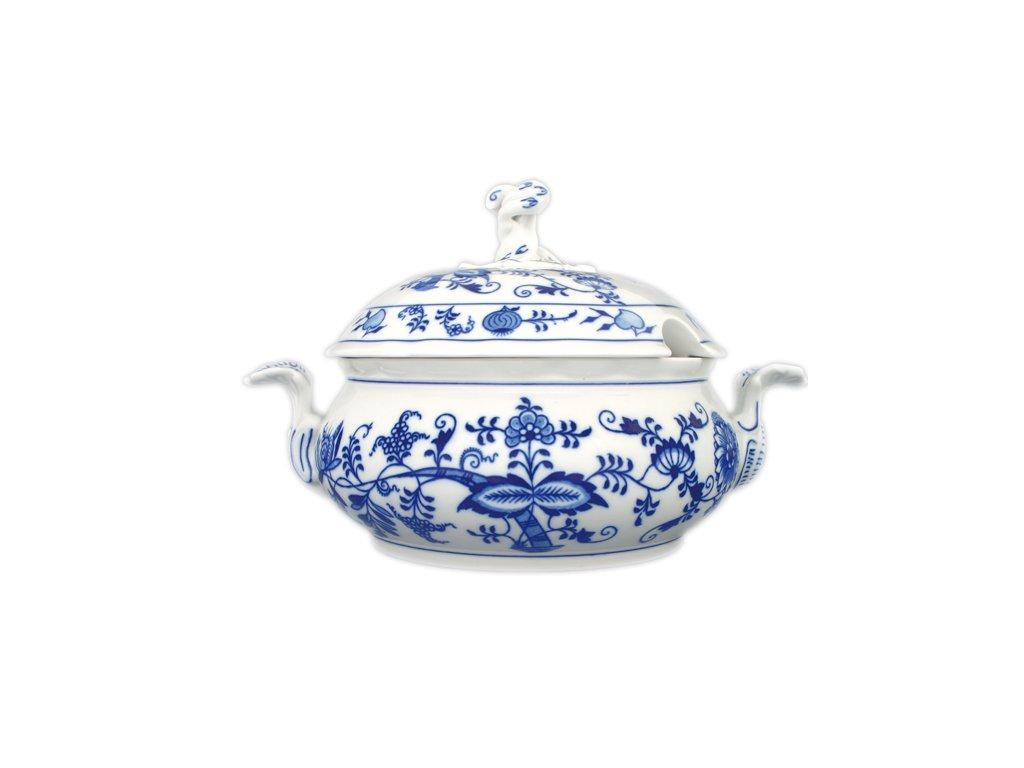 Mísa zeleninová kulatá s víkem s výř. - cibulový porcelán 70527