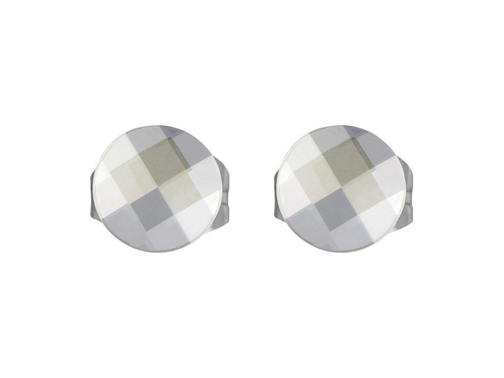 Náušnice z chirurgické oceli Addy s českým křišťálem Preciosa - krystal
