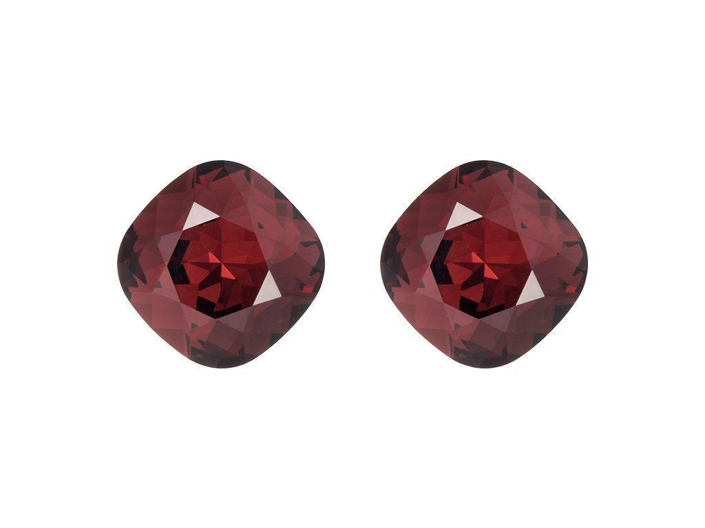 Náušnice z chirurgické oceli Ella s českým křišťálem Preciosa - červené