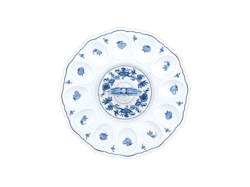 Podnos párty na vejce s porcelánovým klíčem - cibulový porcelán 70541