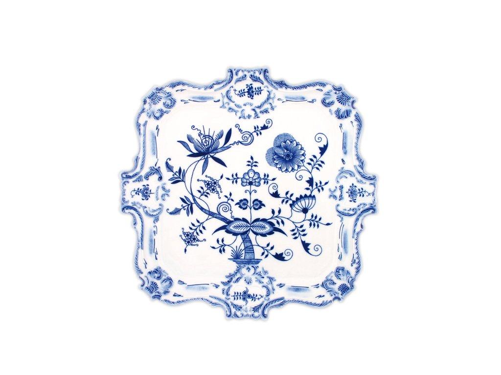 Podnos reliéfní - cibulový porcelán 10402