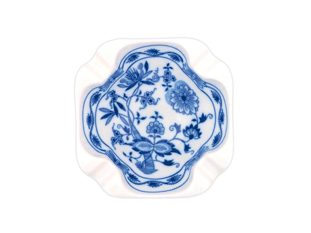 Popelník čtyřhranný - cibulový porcelán 10172