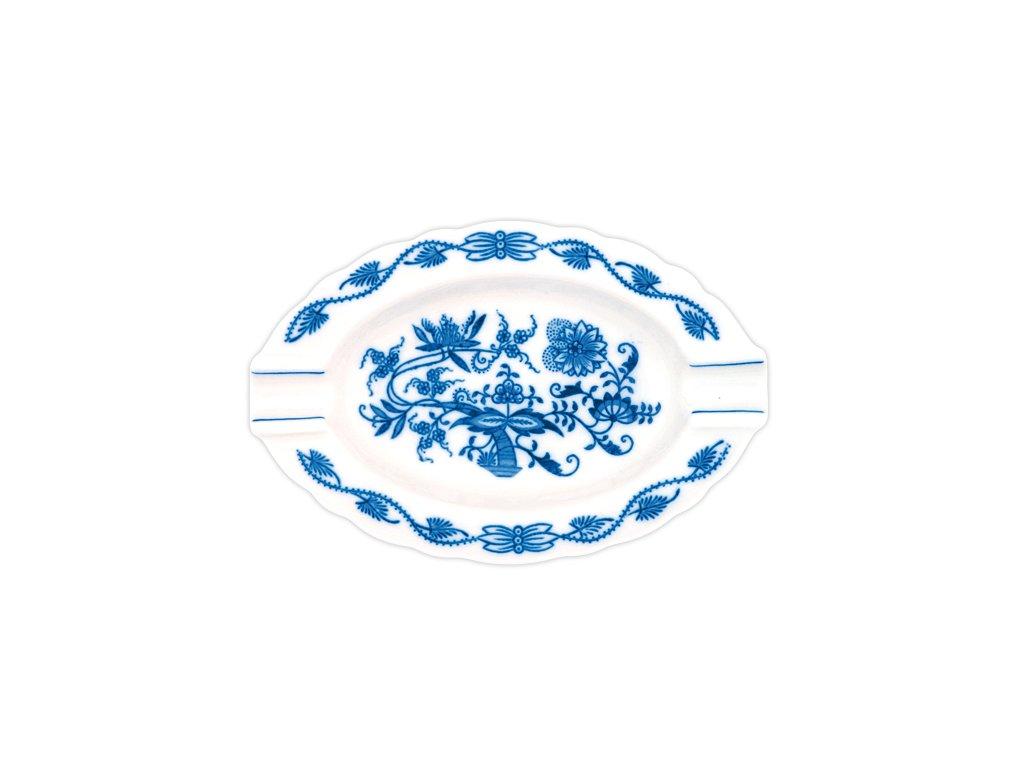 Popelník oválný - cibulový porcelán 10175