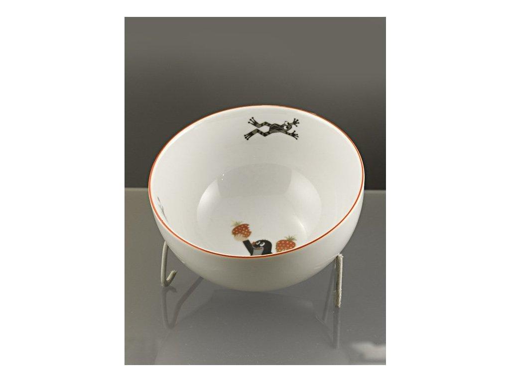 Porcelánová miska s krtečkem, jahůdky