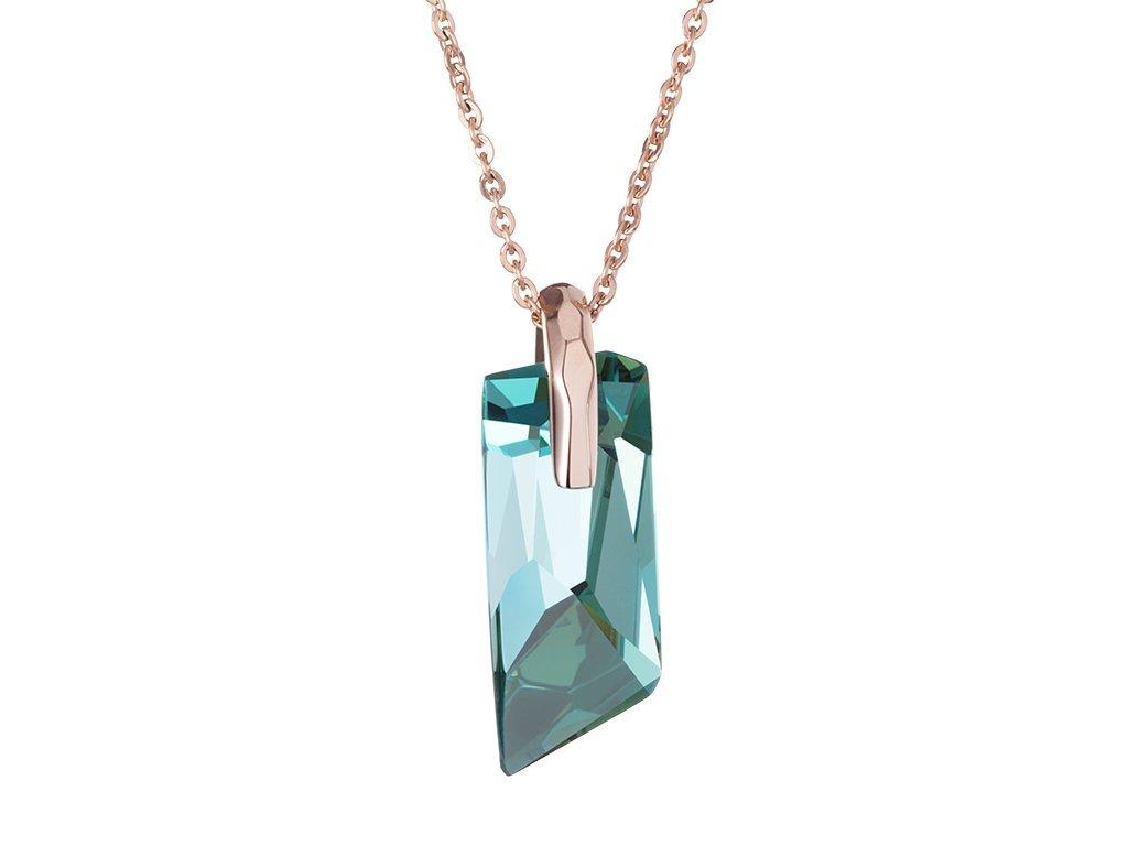 Přívěsek z chirurgické oceli Magical s českým křišťálem Preciosa - zelený
