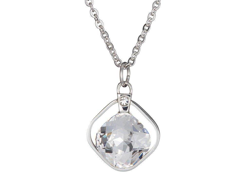 Přívěsek z chirurgické oceli Ella s českým křišťálem Preciosa - krystal