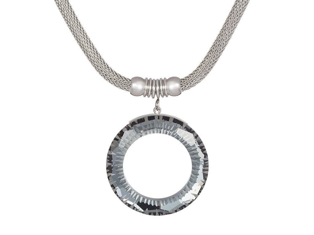Přívěsek z chirurgické oceli Sparkling Ring z českého křišťálu Preciosa