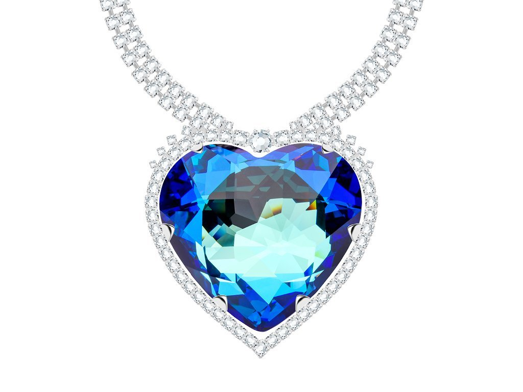 Rhodiovaný štrasový náhrdelník Corona s českým křišťálem Preciosa 2226 46