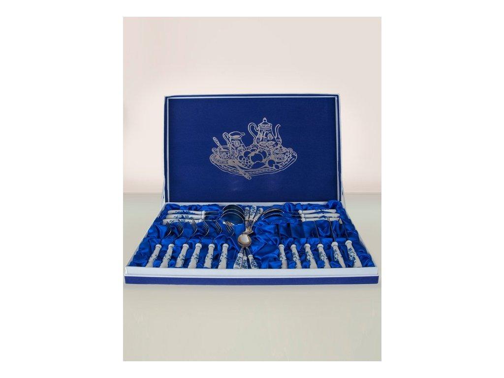 Sada příborů 24ks - dárková krabice - cibulový porcelán