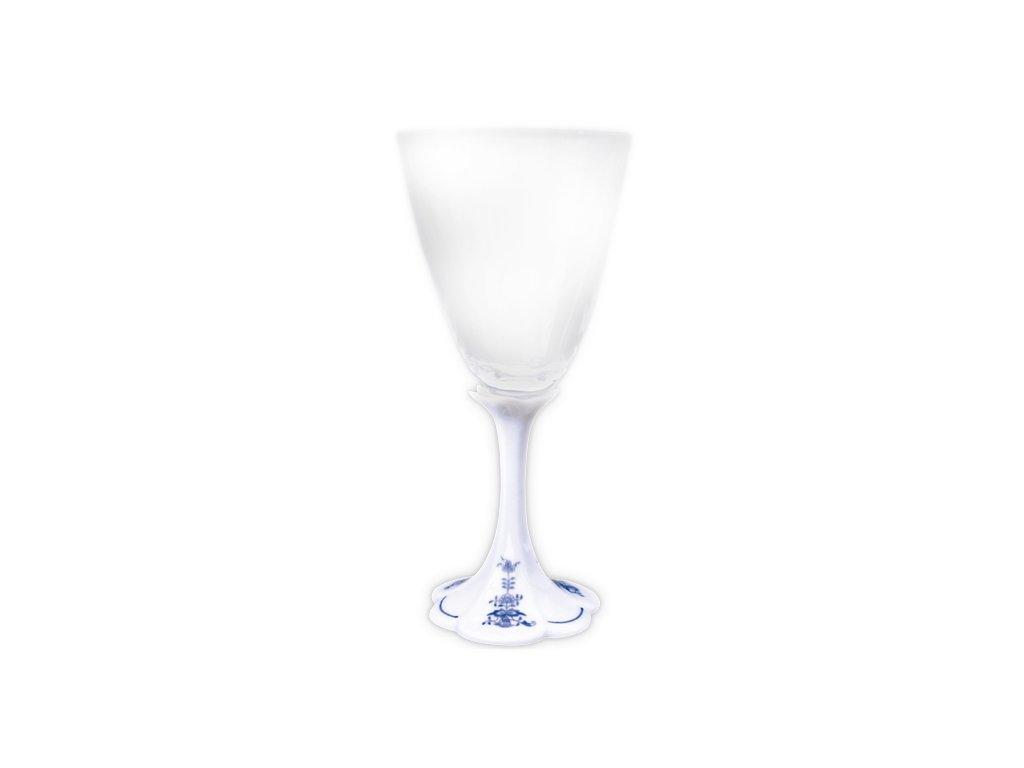 Sklenička na bílé víno - cibulový porcelán 70745