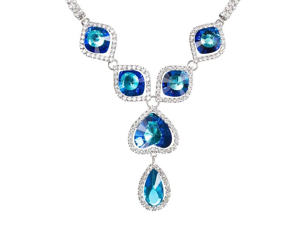 Štrasový náhrdelník Beatrice s českým křišťálem Preciosa