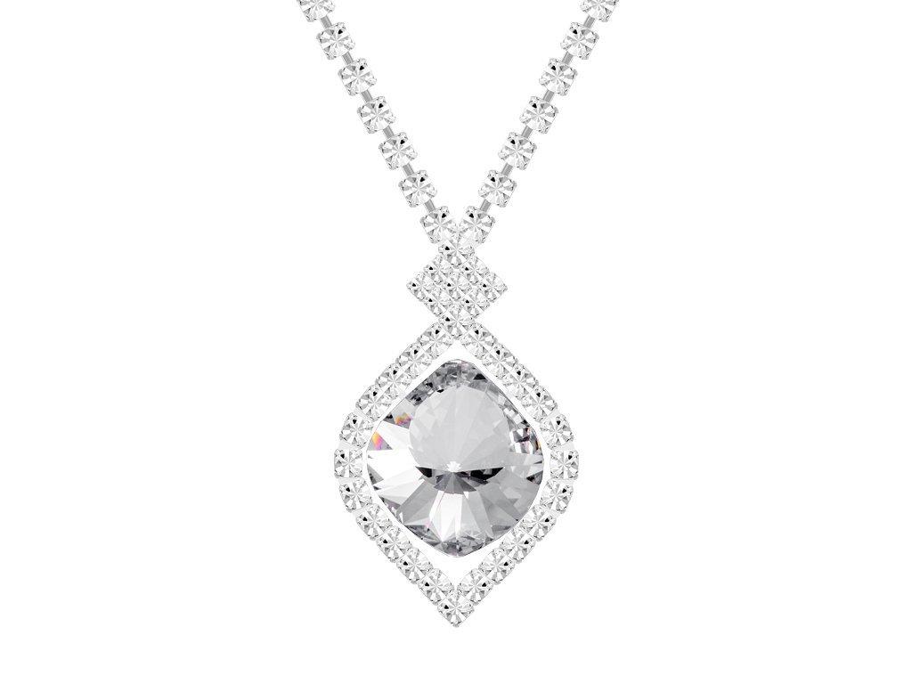 Štrasový náhrdelník Cassiopeia s českým křišťálem Preciosa - krystal